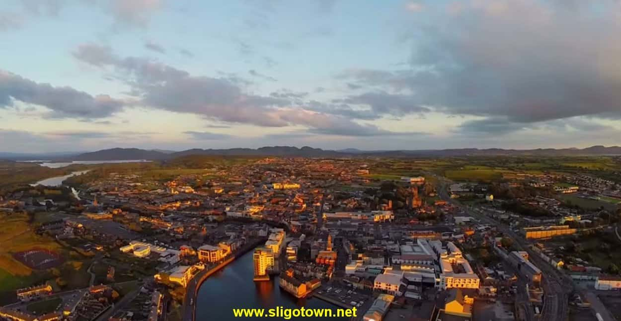 A view of Sligo Town from above